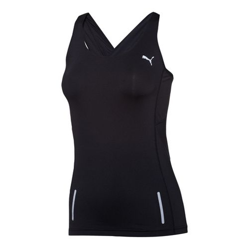 Womens Puma Pure Fitted Tanks Technical Tops - Black L