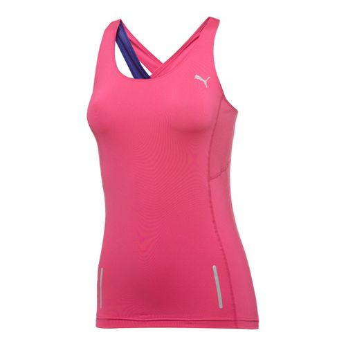 Womens Puma Pure Fitted Tanks Technical Tops - Beetroot Purple M
