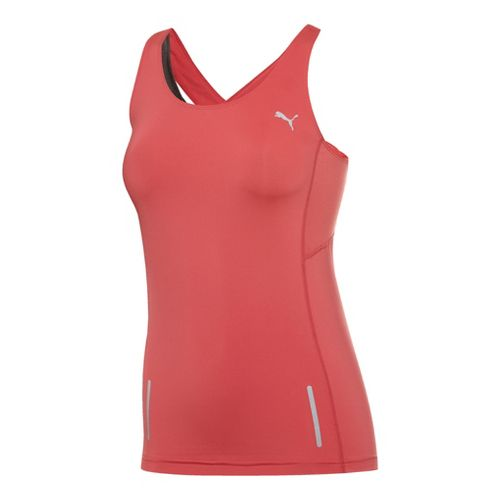 Womens Puma Pure Fitted Tanks Technical Tops - Calypso Coral L
