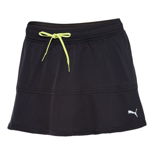 Womens Puma Pure Skort Fitness Skirts - Black XS