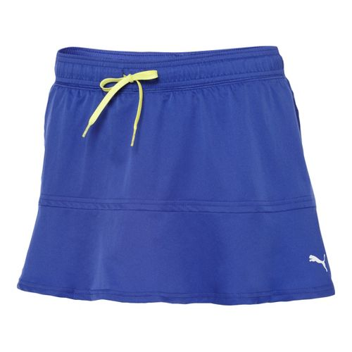 Womens Puma Pure Skort Fitness Skirts - Spectrum Blue L