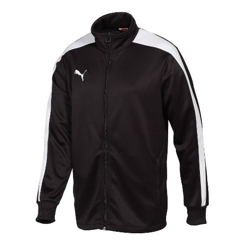 Mens Puma Icon Walk Out Running Jackets - Black/White M