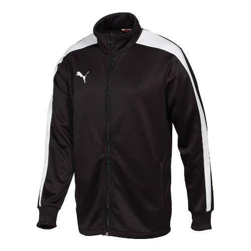 Mens Puma Icon Walk Out Running Jackets - Black/White XXL