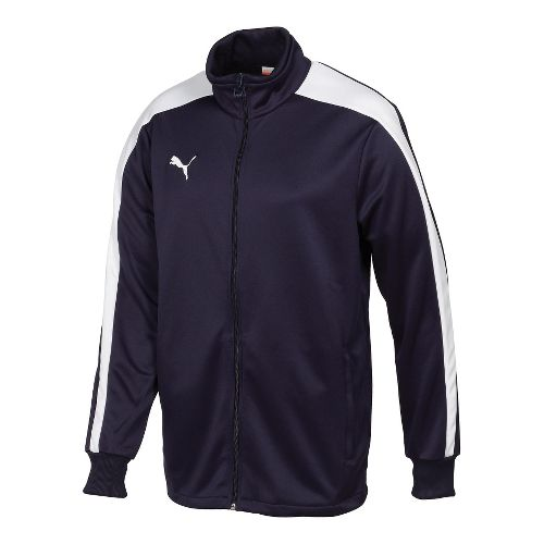 Mens Puma Icon Walk Out Running Jackets - Navy/White M
