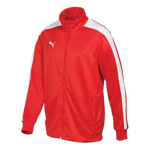Mens Puma Icon Walk Out Running Jackets - Red/White L