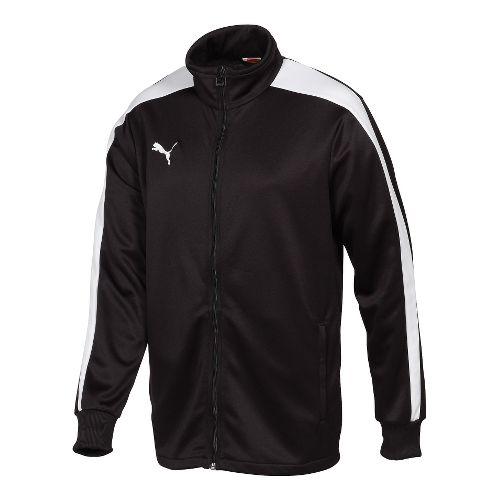 Kids Puma Icon Walk Out Running Jackets - Black/White XL