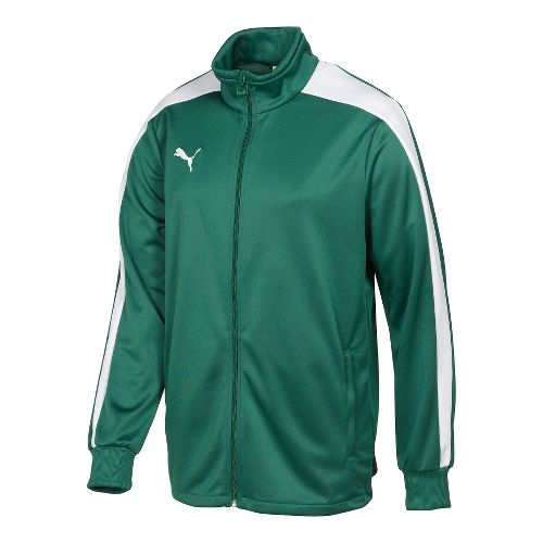 Kids Puma Icon Walk Out Running Jackets - Forest/White M