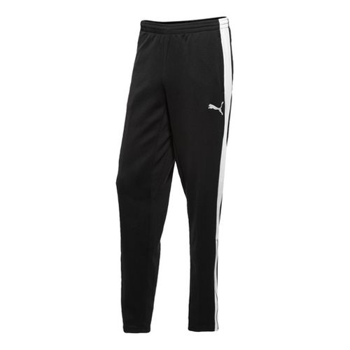 Mens Puma Warm-up Full Length Pants - Black/White S
