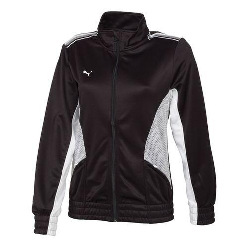 Womens Puma Statement Running Jackets - Black/White M