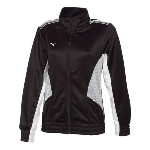 Womens Puma Statement Running Jackets - Black/White XL