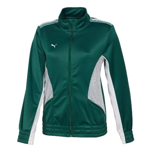 Womens Puma Statement Running Jackets - Forest/White L