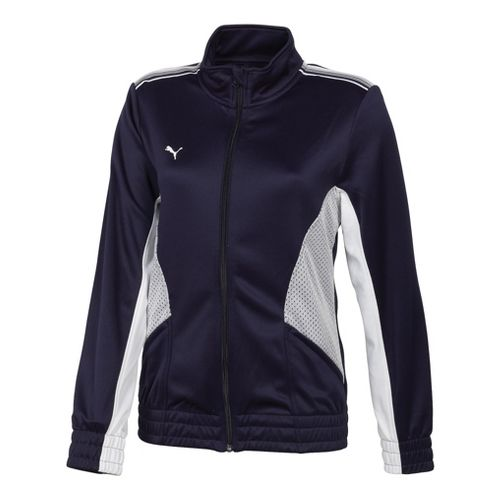 Womens Puma Statement Running Jackets - Navy/White M