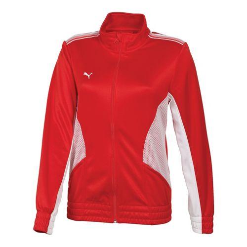 Womens Puma Statement Running Jackets - Red/White M