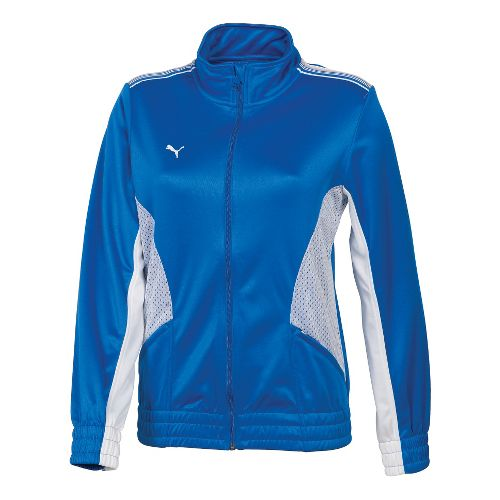 Womens Puma Statement Running Jackets - Royal/White XS