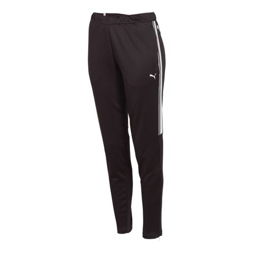 Womens Puma Statement Full Length Pants - Black/White XXS