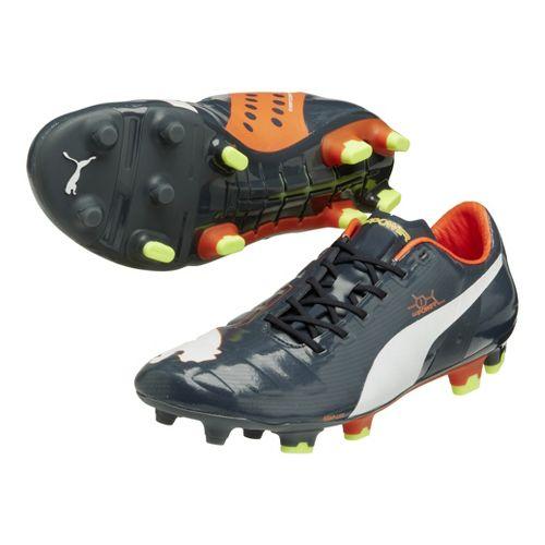 Mens Puma Evopower 1 FG Track and Field Shoe - Ombre Blue/Fluo Peach 14