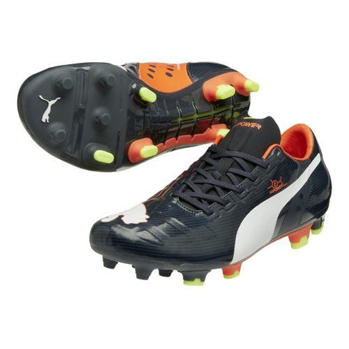 Mens Puma EvoPower 2 FG Track and Field Shoe - Ombre Blue/Fluo Peach 9