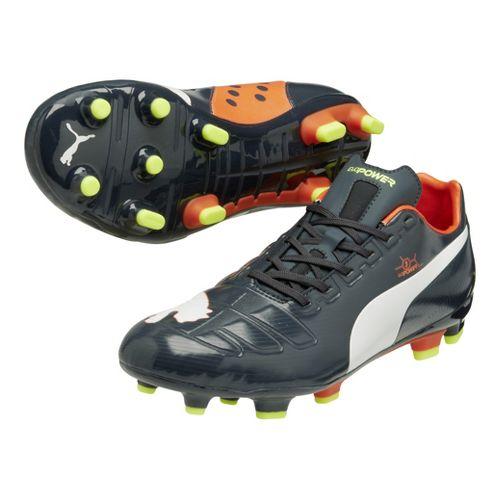 Mens Puma EvoPower 3 FG Track and Field Shoe - Ombre Blue/Fluo Peach 13