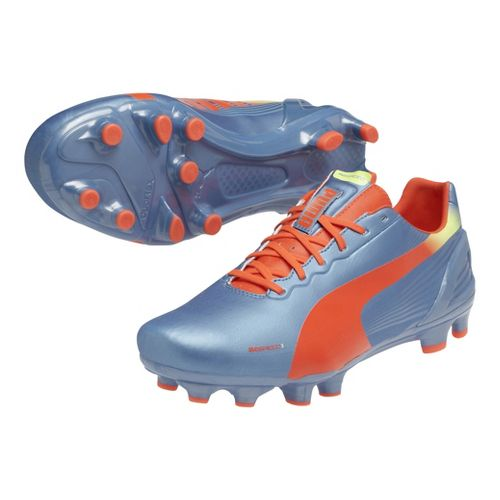 Mens Puma Evospeed 3.2 FG Track and Field Shoe - Sharks Blue/Fluo Peach 14