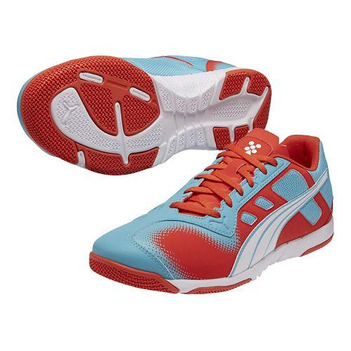 Mens Puma Nevoa Lite Track and Field Shoe - Scuba Blue/Grenadine 4.5