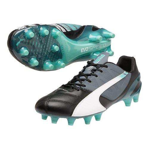 Mens Puma Evospeed 1.3 LTH FG Track and Field Shoe - Black/White 12