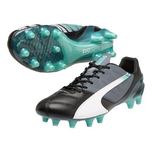 Mens Puma Evospeed 1.3 LTH FG Track and Field Shoe - Black/White 8