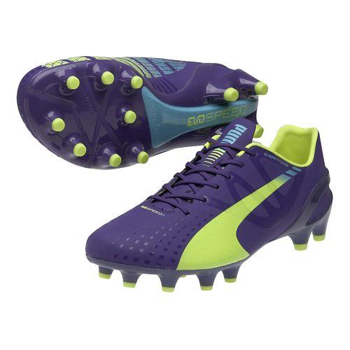 Womens Puma Evospeed 1.3 FG Track and Field Shoe - Prism Violet/Flouro Yellow 13