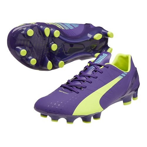 Mens Puma Evospeed 2.3 FG Track and Field Shoe - Prism Violet/Flouro Yellow 8.5