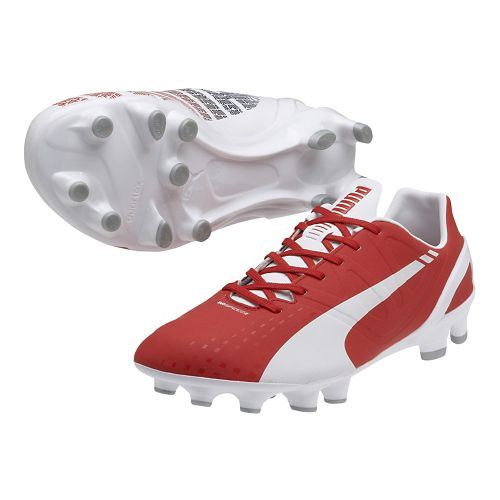 Mens Puma Evospeed 2.3 FG Track and Field Shoe - White/High Risk Red 10.5