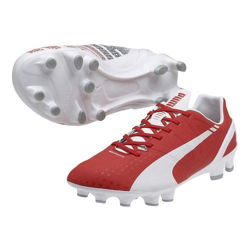 Mens Puma Evospeed 2.3 FG Track and Field Shoe - White/High Risk Red 8.5