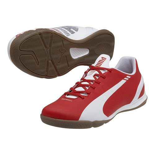 Mens Puma Evospeed 4.3 IT Track and Field Shoe - White/High Risk Red 7
