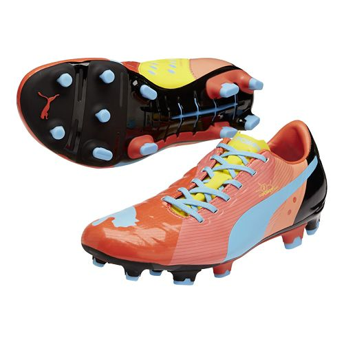 Mens Puma EvoPower 2 FG Graphic Track and Field Shoe - Dubarry/Dandelion 9