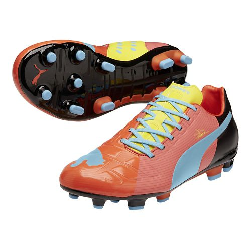 Mens Puma EvoPower 3 FG Graphic Track and Field Shoe - Dubarry/Dandelion 7