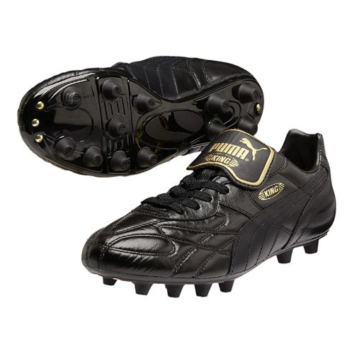 Mens Puma King Top K DI FG Track and Field Shoe - Black/Gold 6.5