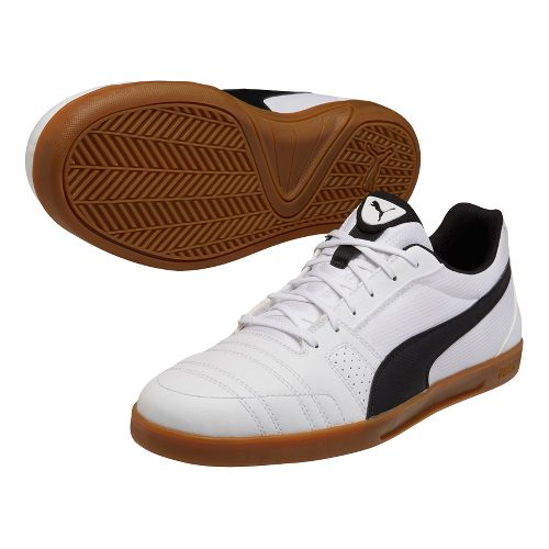 Mens Puma Paulista Novo Track and Field Shoe - White/Black 8.5