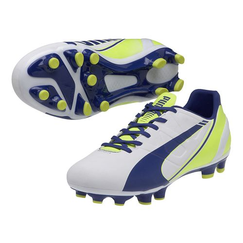 Womens Puma Evospeed 3.3 FG Track and Field Shoe - White/Snorkel Blue 10.5