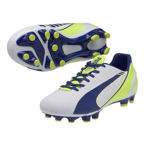 Womens Puma Evospeed 3.3 FG Track and Field Shoe - White/Snorkel Blue 11.5