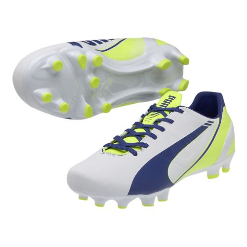Womens Puma Evospeed 4.3 FG Track and Field Shoe - White/Snorkel Blue 11.5