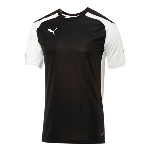 Mens Puma Speed Jersey Short Sleeve Technical Tops - Black/White XL