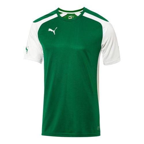 Mens Puma Speed Jersey Short Sleeve Technical Tops - Power Green/White L
