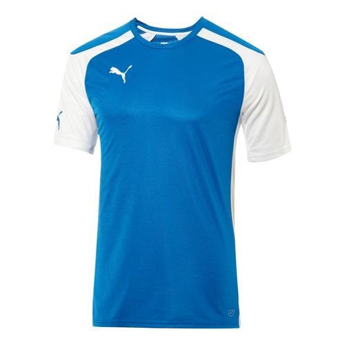Mens Puma Speed Jersey Short Sleeve Technical Tops - Royal/White M