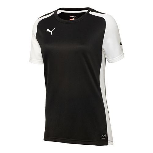 Womens Puma Speed Shirt Short Sleeve Technical Tops - Black/White L