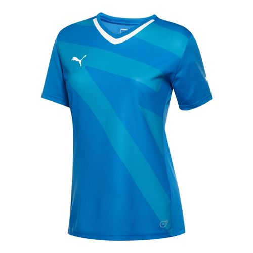 Womens Puma Speed Shirt Short Sleeve Technical Tops - Royal/White XXL