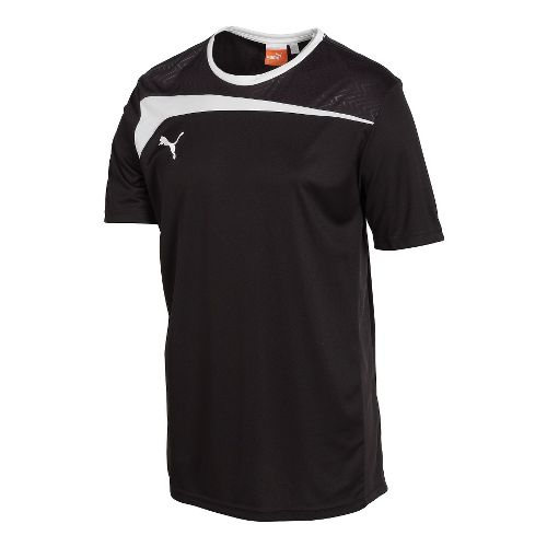 Mens Puma Pulse Jersey Short Sleeve Technical Tops - Black/White L