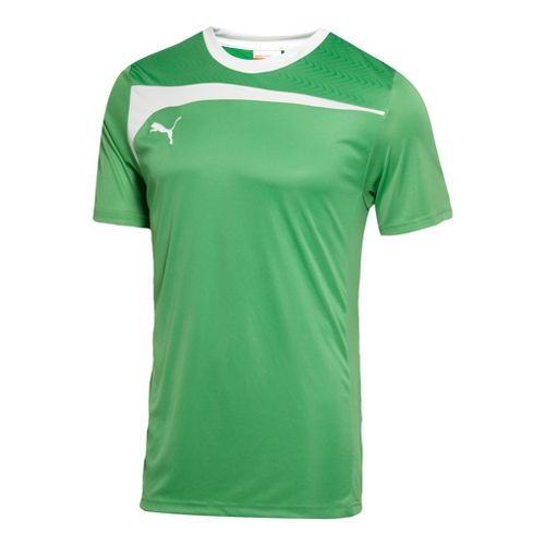 Mens Puma Pulse Jersey Short Sleeve Technical Tops - Kelly Green/White M