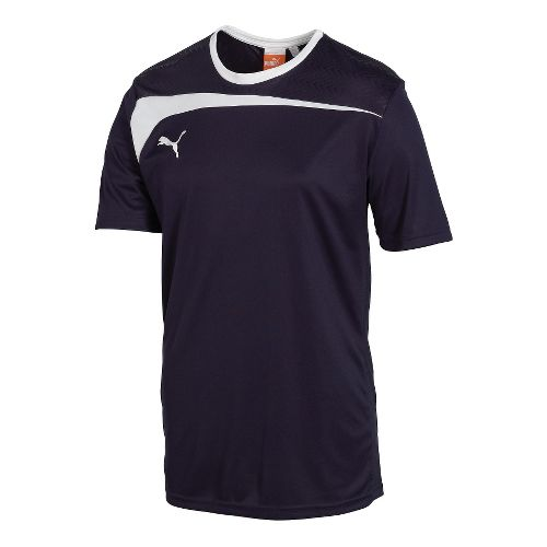 Mens Puma Pulse Jersey Short Sleeve Technical Tops - New Navy/White S