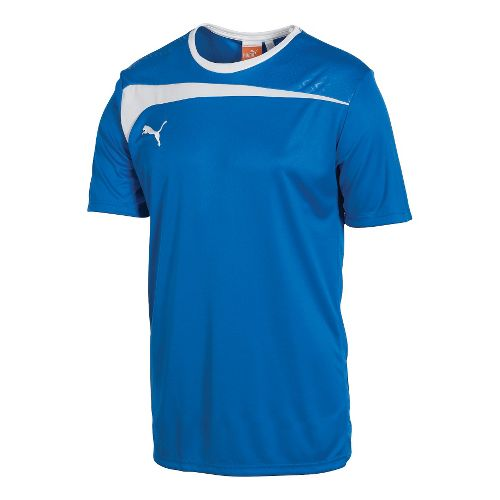 Mens Puma Pulse Jersey Short Sleeve Technical Tops - Royal/White L