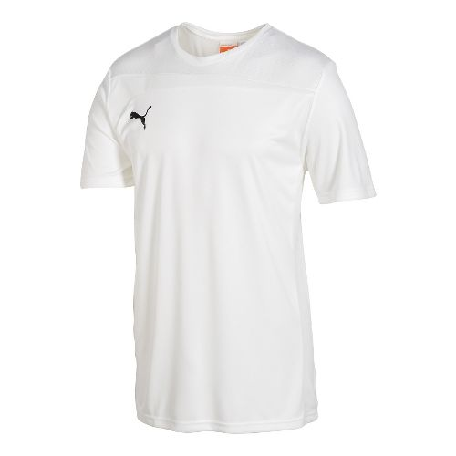 Mens Puma Pulse Jersey Short Sleeve Technical Tops - White/White L