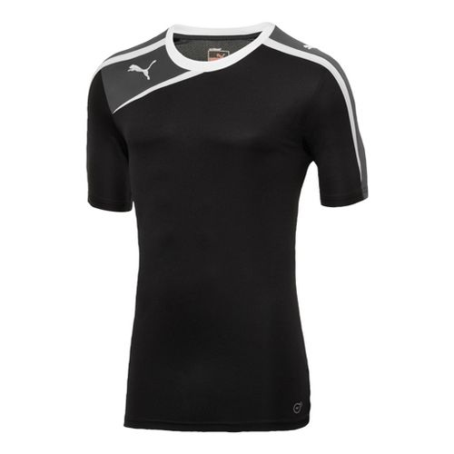 Mens Puma Spirit Shirt Short Sleeve Technical Tops - Black/White XL