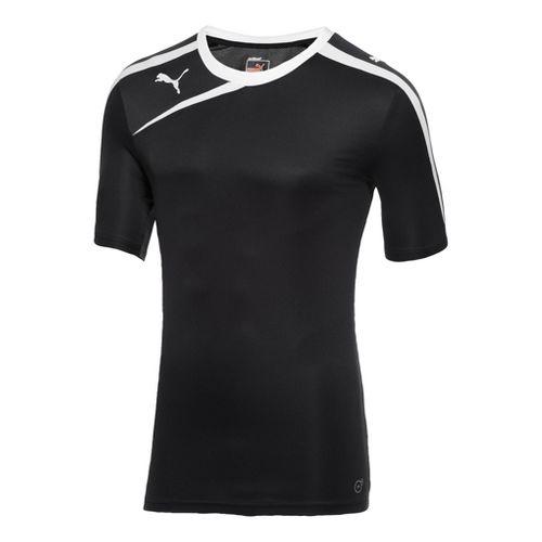 Mens Puma Spirit Shirt Short Sleeve Technical Tops - Navy/White M